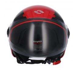 SHIRO SH-62 Oxford Open-face Helmet red 2