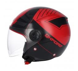 SHIRO SH-62 Oxford Open-face Helmet red 1