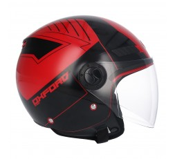 SHIRO SH-62 Oxford Open-face Helmet red 4