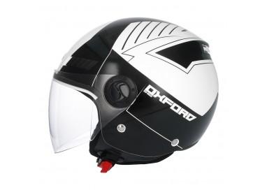 SHIRO SH-62 Oxford Open-face Helmet white 1