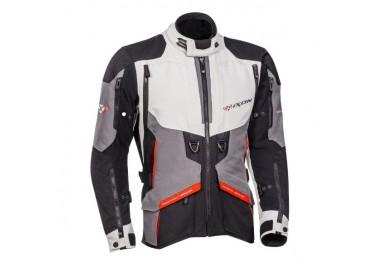Motorcycle jacket TRAIL / MAXI TRAIL / AVENTURA model RAGNAR by IXON black/ dark grey/ light grey/ red 1