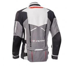 Motorcycle jacket TRAIL / MAXI TRAIL / AVENTURA model RAGNAR by IXON black/ dark grey/ light grey/ red 2