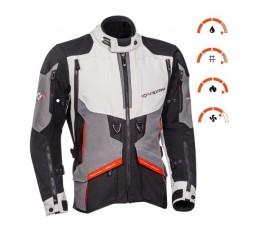 Motorcycle jacket TRAIL / MAXI TRAIL / AVENTURA model RAGNAR by IXON black/ dark grey/ light grey/ red 3