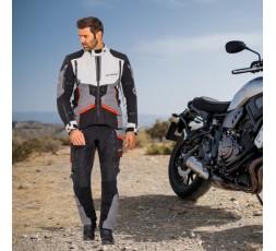 Motorcycle jacket TRAIL / MAXI TRAIL / AVENTURA model RAGNAR by IXON black/ dark grey/ light grey/ red 4