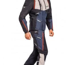 Pantalon de moto type Trail, Maxi Trail, Adventure EDDAS PANT de Ixon bleu 4