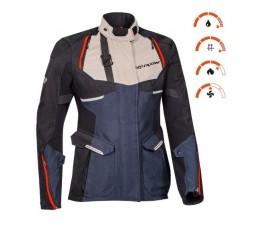 Chaqueta moto mujer uso Trail, Maxi Trail, Aventura EDDAS LADY de Ixon azul 3