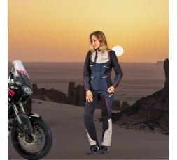 Chaqueta moto mujer uso Trail, Maxi Trail, Aventura EDDAS LADY de Ixon azul 5