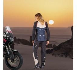 Chaqueta moto mujer uso Trail, Maxi Trail, Aventura EDDAS LADY de Ixon azul 6