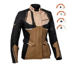 Motorcycle lady jacket TOURING / ADVENTURE model EDDAS LADY by IXON brown 3