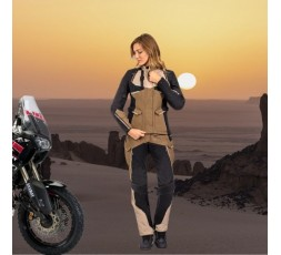 Motorcycle lady jacket TOURING / ADVENTURE model EDDAS LADY by IXON brown 5