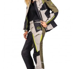 Women's motorcycle pants for Trail, Maxi Trail, Adventure EDDAS PT L by Ixon green kaky 4