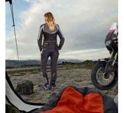 Chaqueta moto mujer Trail, Maxi Trail, Aventura modelo BALDER LADY de Ixon amarillo 6