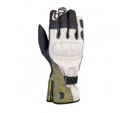 Motorcycle gloves for Trail, Maxi Trail or Adventure use, MS LOKI model by IXON khaki green 1