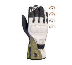 Motorcycle gloves for Trail, Maxi Trail or Adventure use, MS LOKI model by IXON khaki green 3