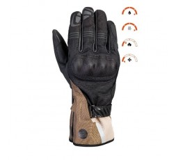 Motorcycle gloves for Trail, Maxi Trail or Adventure use, MS LOKI model by IXON khaki brown 3
