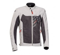 ORION 2-in-1 approved ultra-ventilated summer motorcycle jacket by Ixon grey-black-red 1