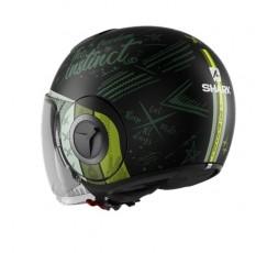 JET NANO Helmet green by SHARK green 4