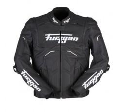 Blouson de moto en cuir RAPTOR EVO de la marque FURYGAN blanc et noir 1b