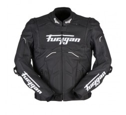 RAPTOR EVO leather motorcycle jacket by FURYGAN black and white 1b