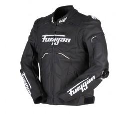 Blouson de moto en cuir RAPTOR EVO de la marque FURYGAN blanc et noir 2b