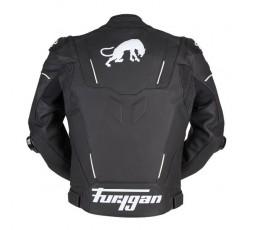 Blouson de moto en cuir RAPTOR EVO de la marque FURYGAN blanc et noir 3