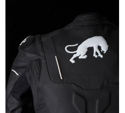 Blouson de moto en cuir RAPTOR EVO de la marque FURYGAN blanc et noir 4