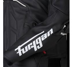 Blouson de moto en cuir RAPTOR EVO de la marque FURYGAN blanc et noir 5