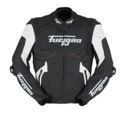 Blouson de moto en cuir RAPTOR EVO de la marque FURYGAN blanc, rouge et noir 1