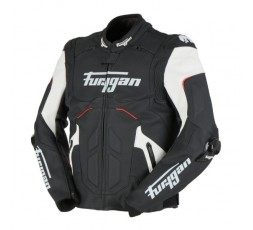 RAPTOR EVO leather motorcycle jacket by FURYGAN black, red and white 2
