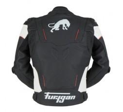 Blouson de moto en cuir RAPTOR EVO de la marque FURYGAN blanc, rouge et noir 3
