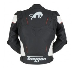 RAPTOR EVO leather motorcycle jacket by FURYGAN black, red and white 3