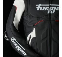 Blouson de moto en cuir RAPTOR EVO de la marque FURYGAN blanc, rouge et noir 4