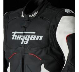 Blouson de moto en cuir RAPTOR EVO de la marque FURYGAN blanc, rouge et noir 5