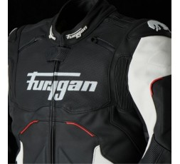 RAPTOR EVO leather motorcycle jacket by FURYGAN black, red and white 5