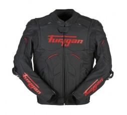 Blouson de moto en cuir RAPTOR EVO de la marque FURYGAN rouge et noir 1
