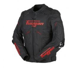 Blouson de moto en cuir RAPTOR EVO de la marque FURYGAN rouge et noir 2