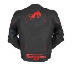 Blouson de moto en cuir RAPTOR EVO de la marque FURYGAN rouge et noir 3
