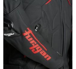 Blouson de moto en cuir RAPTOR EVO de la marque FURYGAN rouge et noir 4