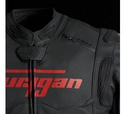 Blouson de moto en cuir RAPTOR EVO de la marque FURYGAN rouge et noir 6
