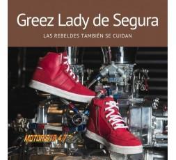Bottes de moto en cuir pour femme modèle GREEZ de Segura 3