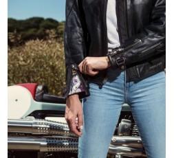 Lady Subotaï motorcycle leather women jacket by Segura 5