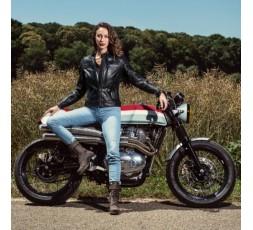Lady Subotaï motorcycle leather women jacket by Segura 7