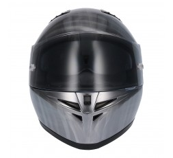 SH-600 CHROME SCRATCHED full face helmet by SHIRO 2