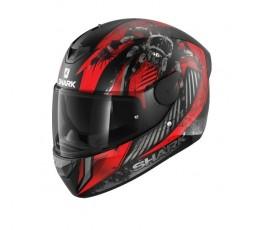 Casque intégral de moto modèle D-SKWAL 2 ATRAXX de Shark rouge 1