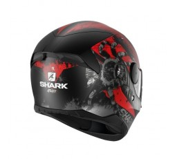 Casco integral de moto modelo D-SKWAL 2 ATRAXX de Shark rojo 4