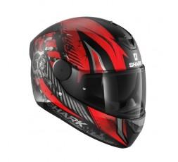 Casco integral de moto modelo D-SKWAL 2 ATRAXX de Shark rojo 5