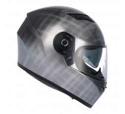 SH-600 CHROME SCRATCHED full face helmet by SHIRO 4