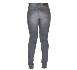 Cowboy / motorcycle jean woman LADY PURDEY by FURYGAN with D3O Denim protections grey 3