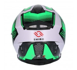 Casco integral SH-881 MOTEGI VERDE de SHIRO