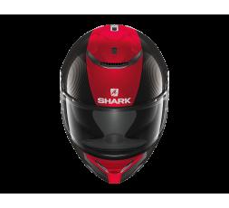 Casco integral SPARTAN CARBON SKIN de SHARK negro/rojo